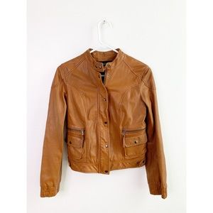Moda International Genuine Leather Moto Jacket